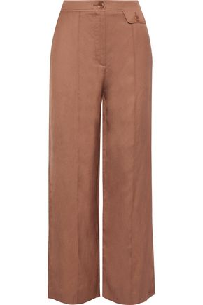 IRIS & INK Stella piqué wide-leg pants