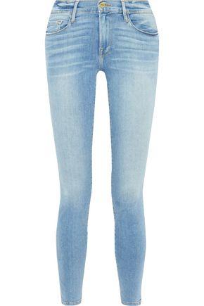 FRAME Le Skinny De Jeanne faded low-rise skinny jeans