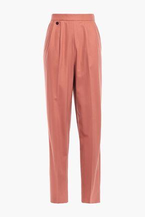 AGNONA Wool-blend straight-leg pants