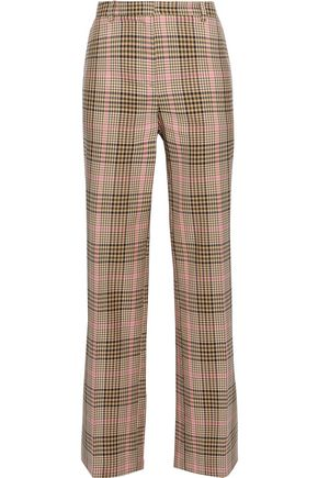 BAUM UND PFERDGARTEN Checked woven straight-leg pants