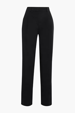 ESTEBAN CORTAZAR Pleated stretch-twill straight-leg pants