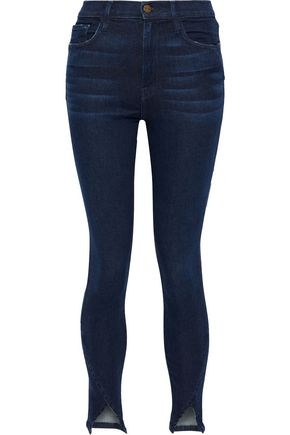 FRAME Ali distressed high-rise skinny jeans