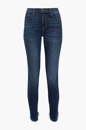 FRAME Le Skinny De Jeanne distressed mid-rise skinny jeans
