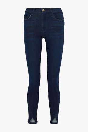 FRAME Le Skinny de Jeanne slit-front mid-rise skinny jeans