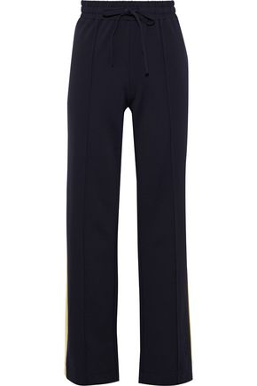 BAUM UND PFERDGARTEN Jetta striped crepe wide-leg pants