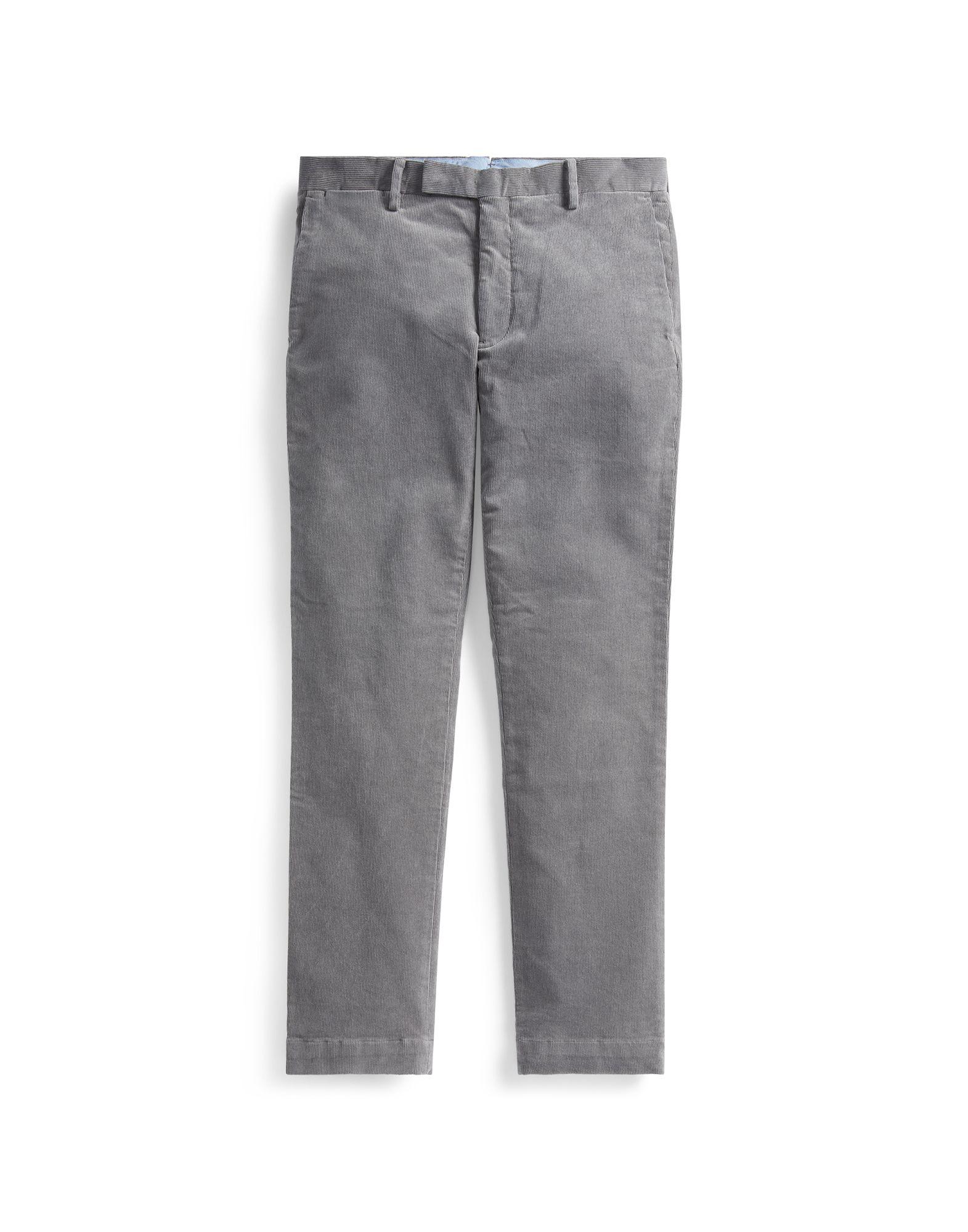 《セール開催中》POLO RALPH LAUREN メンズ パンツ グレー 30W-34L コットン 99% / ポリウレタン 1% Stretch Slim Fit Corduroy Pant