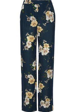 NICHOLAS Floral-print silk-chiffon wide-leg pants
