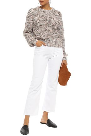 7 FOR ALL MANKIND Cropped high-rise kick-flare jeans