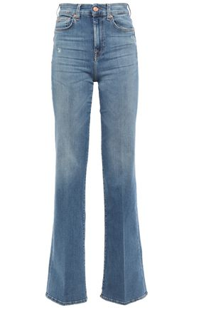 7 FOR ALL MANKIND Lisha distressed high-rise bootcut jeans