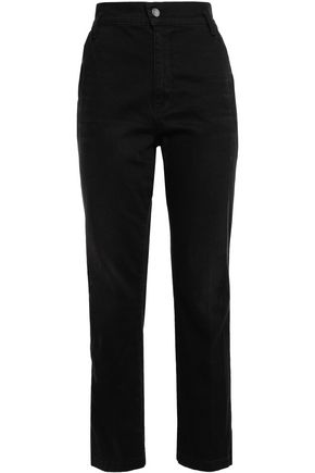 FRAME Cropped high-rise straight-leg jeans