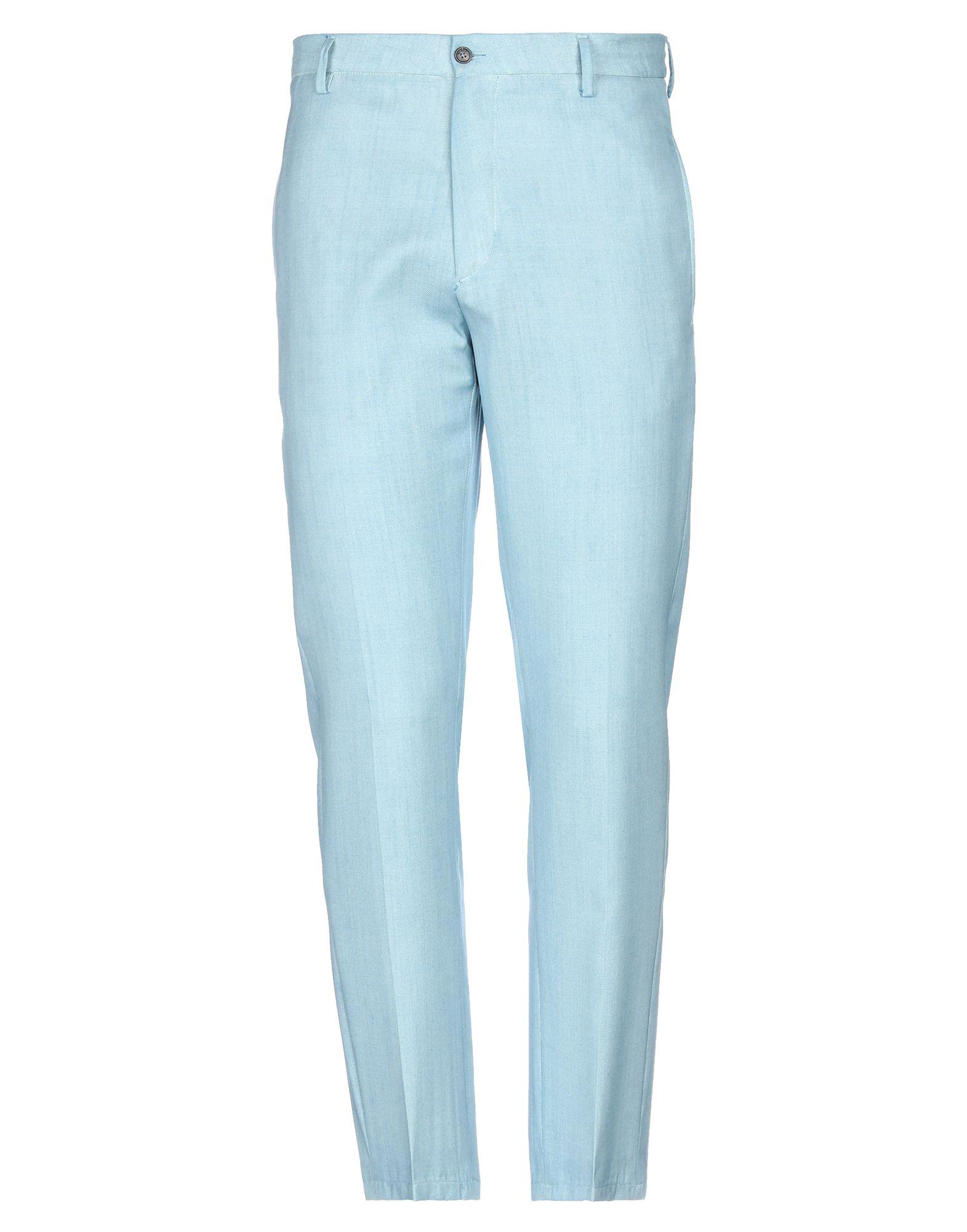 《セール開催中》BE ABLE メンズ パンツ ターコイズブルー 32 バージンウール 100%