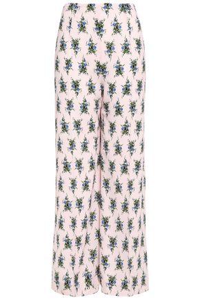 EMILIA WICKSTEAD Hullinie floral-print crepe wide-leg pants