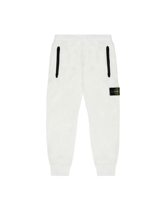 STONE ISLAND KIDS 61642  Fleece Trousers Man Ivory