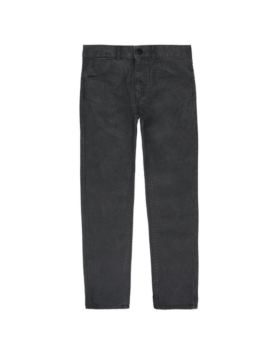 STONE ISLAND JUNIOR PANTS - 5 POCKETS J0210 CANVAS PLACCATO