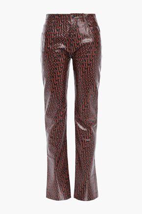 MISSONI Printed leather straight-leg pants