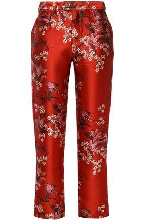 JOHANNA ORTIZ Corajuda floral-print satin straight-leg pants