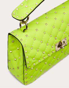 Средняя сумка Rockstud Spike из флуоресцентной телячьей кожи Превью