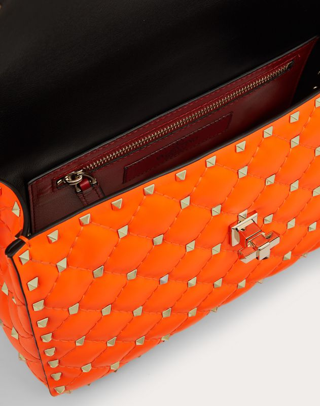 Medium Rockstud Spike Fluo Calfskin Bag SS20 Runway Preview
