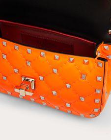 Mini Rockstud Spike Fluo Calfskin Bag SS20 Runway Preview