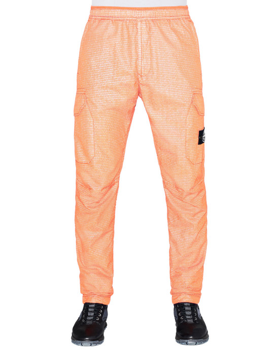 STONE ISLAND 32398 REFLECTIVE WEAVE RIPSTOP-TC Trousers Man Orange