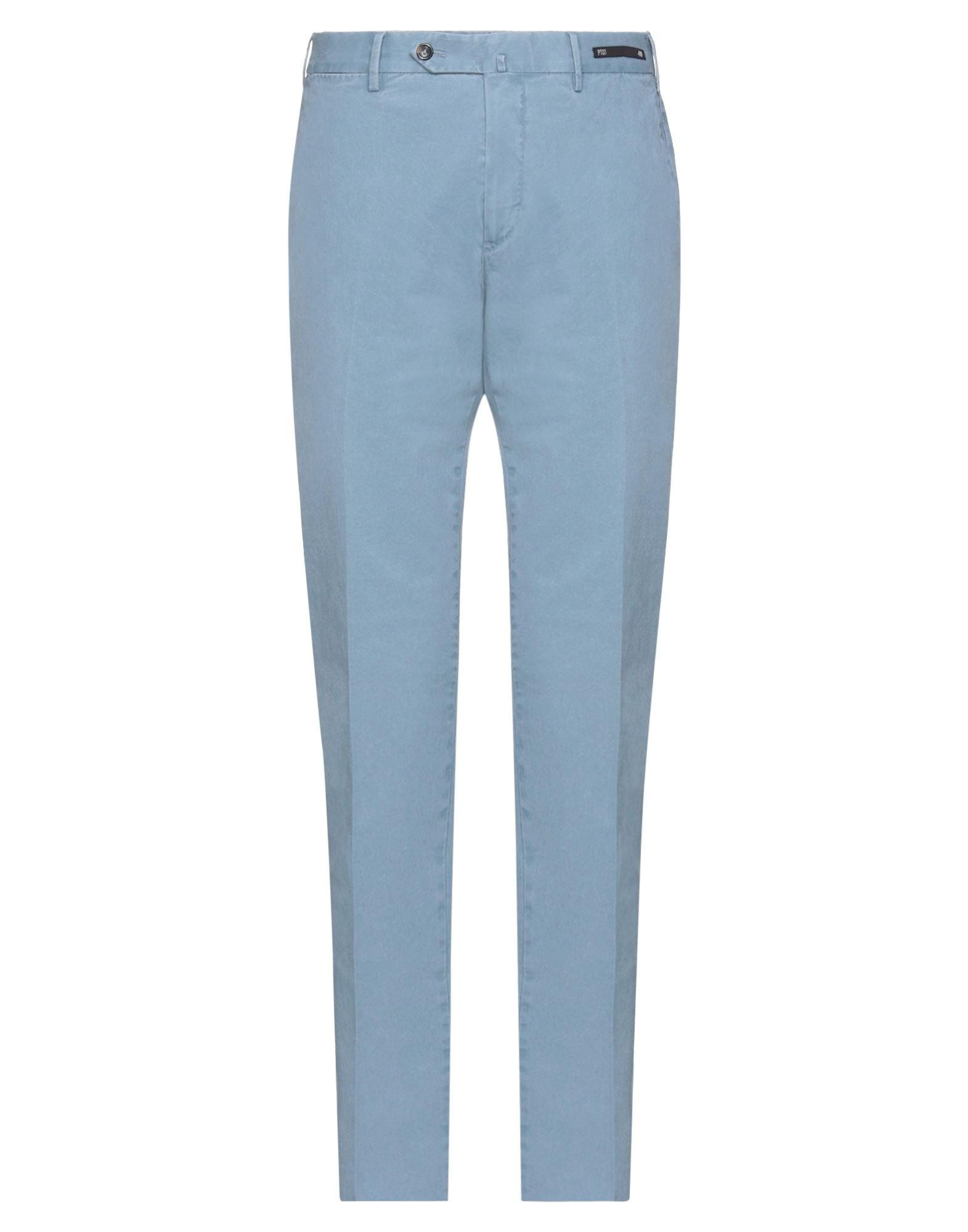 Pt Torino Casual Pants In Slate Blue
