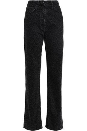 McQ Alexander McQueen Leopard-print high-rise straight-leg jeans