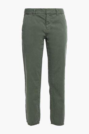 NILI LOTAN East Hampton cropped cotton-blend twill straight-leg pants