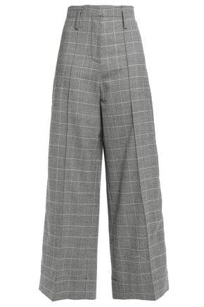 RACIL Nitta checked stretch-wool wide-leg pants