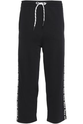 McQ Alexander McQueen Cropped French cotton-terry track pants