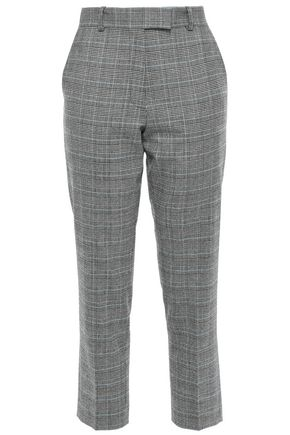 RACIL Cropped Prince of Wales checked wool slim-leg pants
