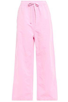 McQ Alexander McQueen Cotton and linen-blend wide-leg pants