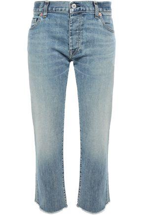 NILI LOTAN Frayed faded boyfriend jeans