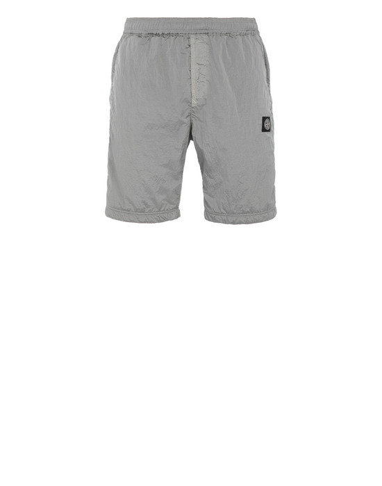 STONE ISLAND 63236 NYLON METAL RIPSTOP + RETE ISOLANTE-TC  FLEECE BERMUDA SHORTS Man Dust Grey