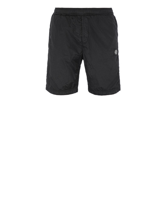 STONE ISLAND 63236 NYLON METAL RIPSTOP + RETE ISOLANTE-TC  FLEECE BERMUDA SHORTS Man Black