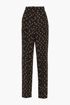 ETRO Printed silk crepe de chine wide-leg pants