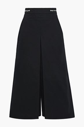 PROENZA SCHOULER Zip-detailed cotton-twill culottes