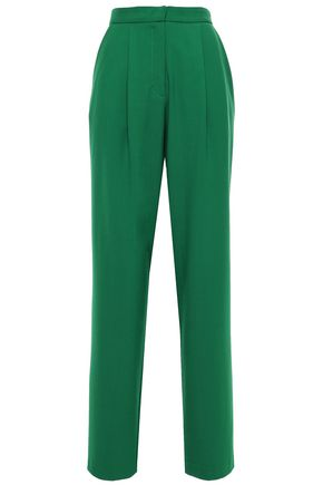 CHINTI & PARKER Pleated twill wide-leg pants