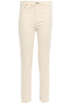 RAG & BONE Cropped cotton-blend velvet skinny pants