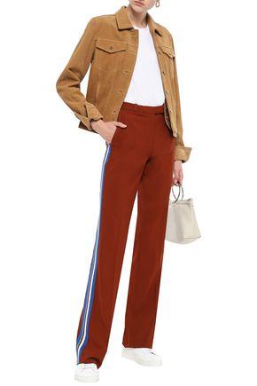 ETRO Striped wool-blend straight-leg pants
