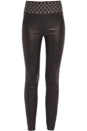 SPRWMN Embellished stretch-leather leggings