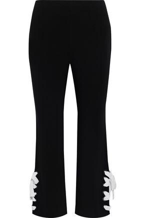 CINQ À SEPT Izella cropped lace-up cady bootcut pants
