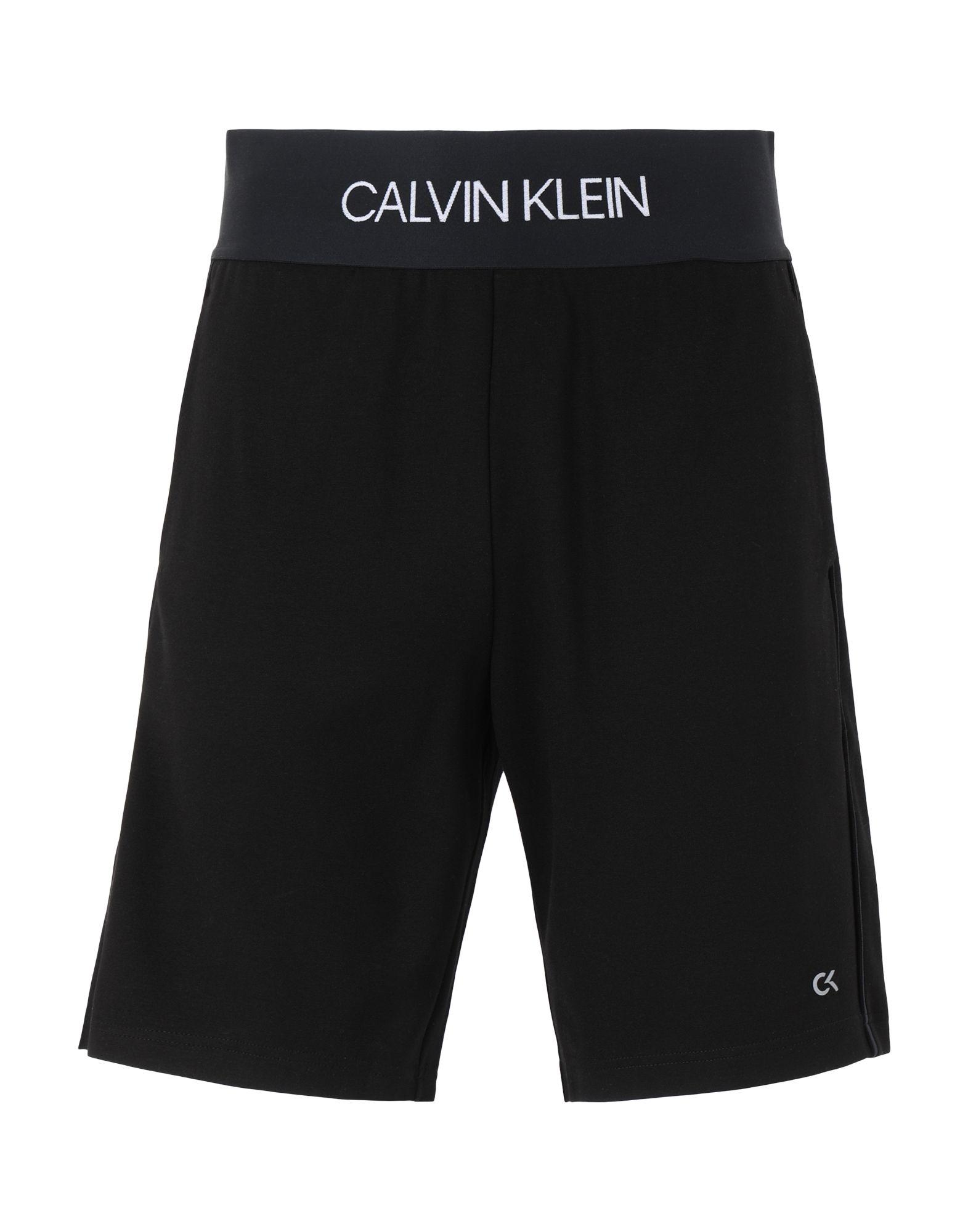 《セール開催中》CALVIN KLEIN PERFORMANCE メンズ バミューダパンツ ブラック S レーヨン 68% / ナイロン 27% / ポリウレタン 5%