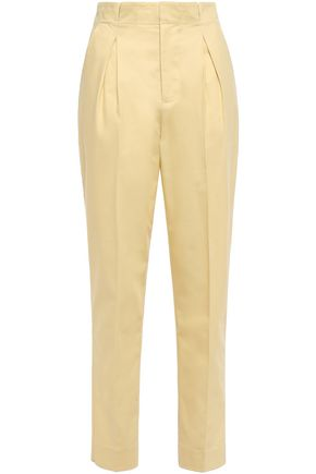 EQUIPMENT Pleated cotton-piqué tapered pants