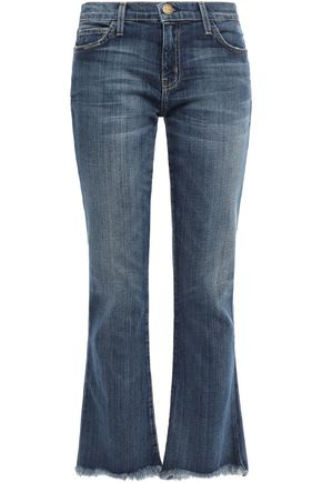 CURRENT/ELLIOTT Supeloved frayed mid-rise flared jeans
