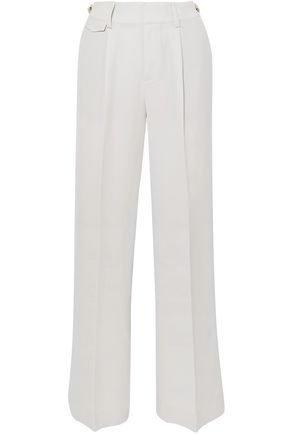 VINCE. Pleated cady wide-leg pants