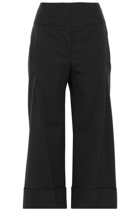 CAROLINA HERRERA Stretch wool-twill culottes
