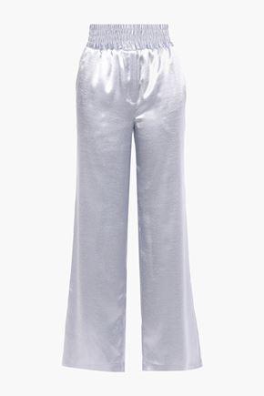 CINQ À SEPT Satin-crepe wide-leg pants