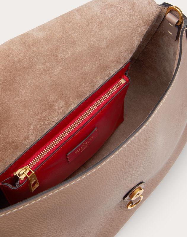 Large VRING Grainy Calfskin Crossbody Bag