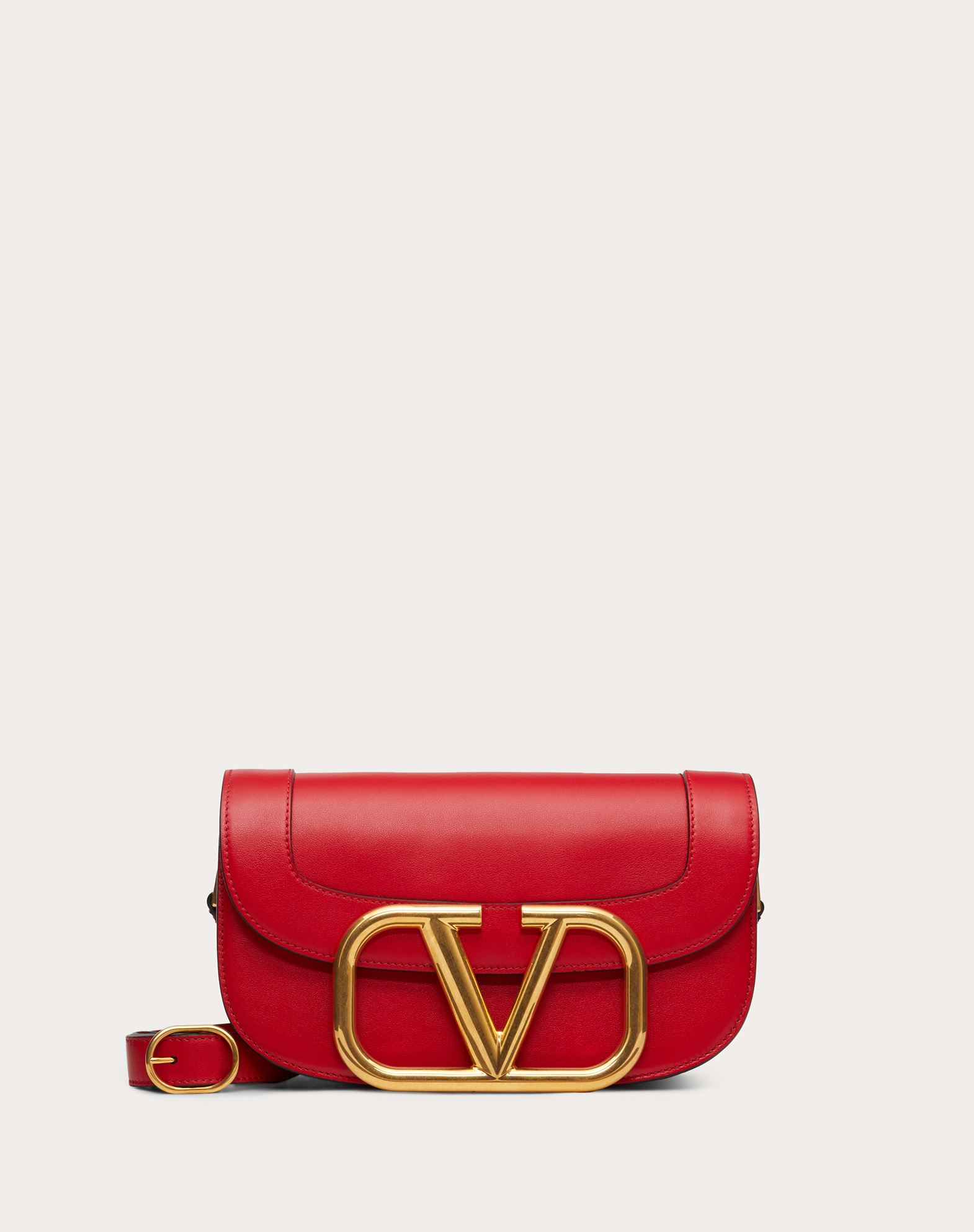 Supervee Calfskin Crossbody Bag