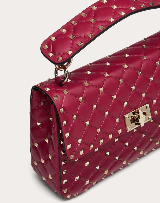Средняя сумка Rockstud Spike из кожи наппа